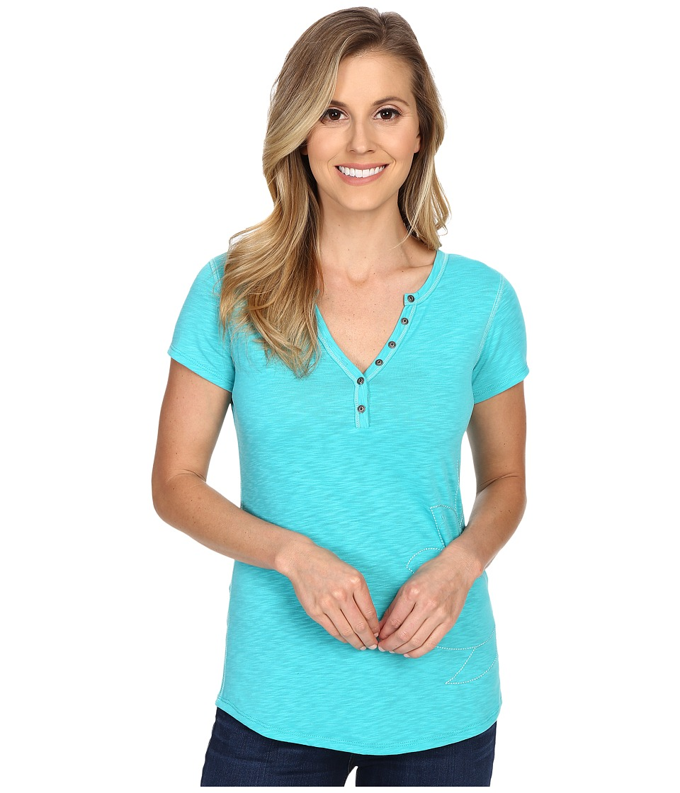 Kuhl - Sora Henley (Mountain Jade) Women's Short Sleeve Pullover