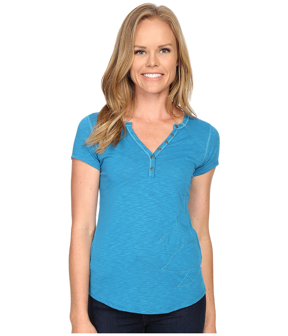 Kuhl - Sora Henley (Seaport) Women's Short Sleeve Pullover