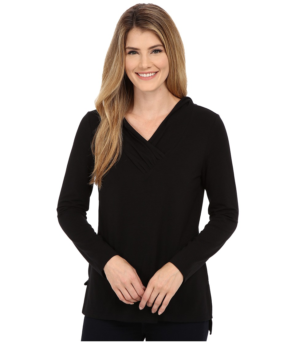 Royal Robbins - Essential Tencel Sun Cover Top (Jet Black) Women's Long Sleeve Pullover