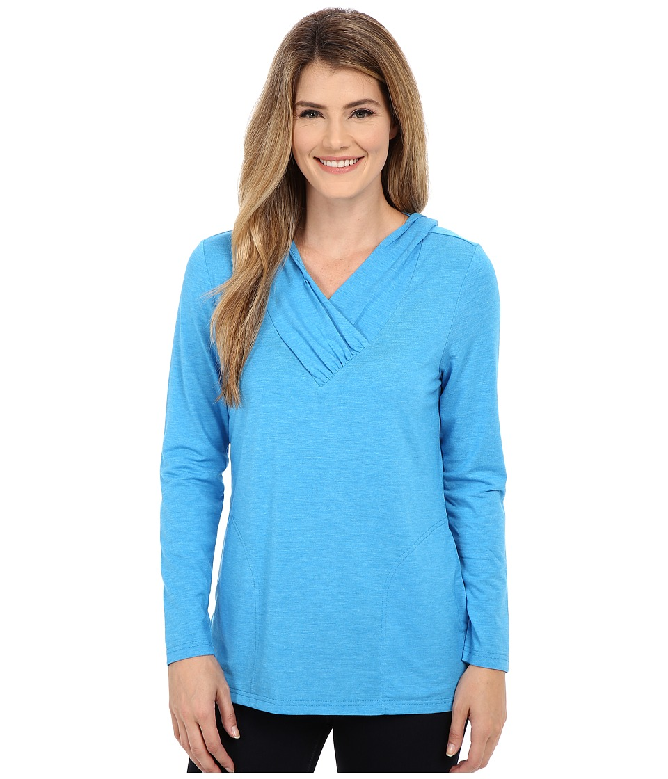 Royal Robbins - Essential Tencel Sun Cover Top (Abyss Blue) Women's Long Sleeve Pullover