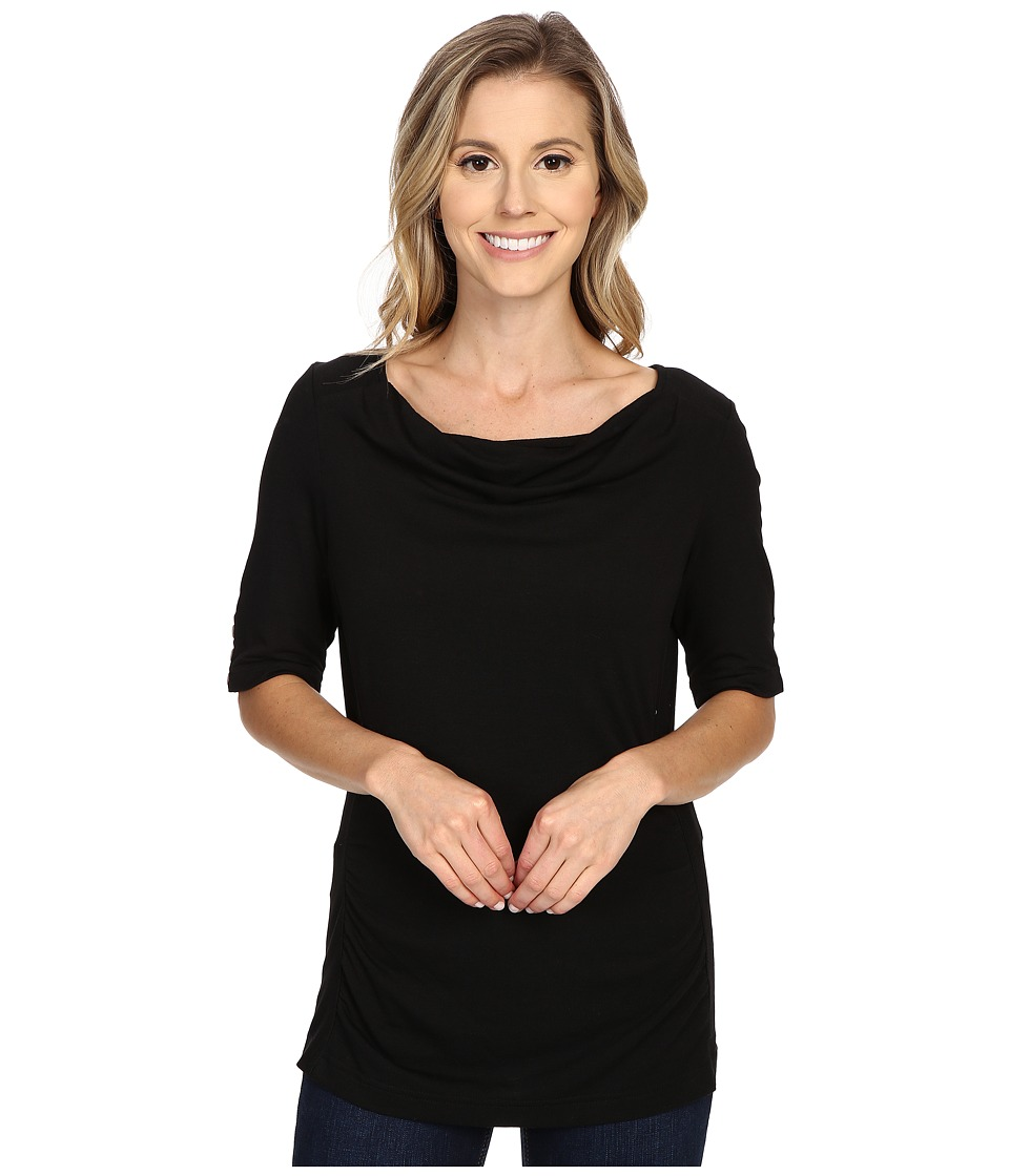 Royal Robbins - Essential Tencel(r) Cowl Neck (Jet Black) Women's Clothing