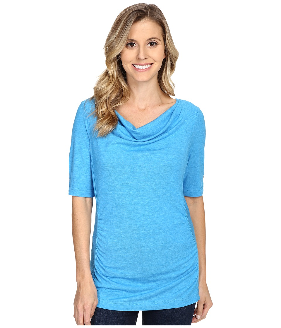 Royal Robbins - Essential Tencel Cowl Neck (Abyss Blue) Women