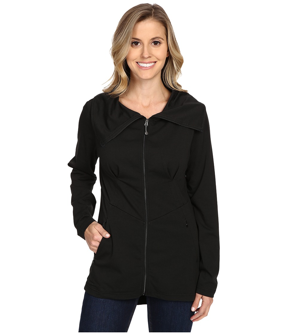 Royal Robbins - Essential Zip-Up Jacket (Jet Black) Women's Coat