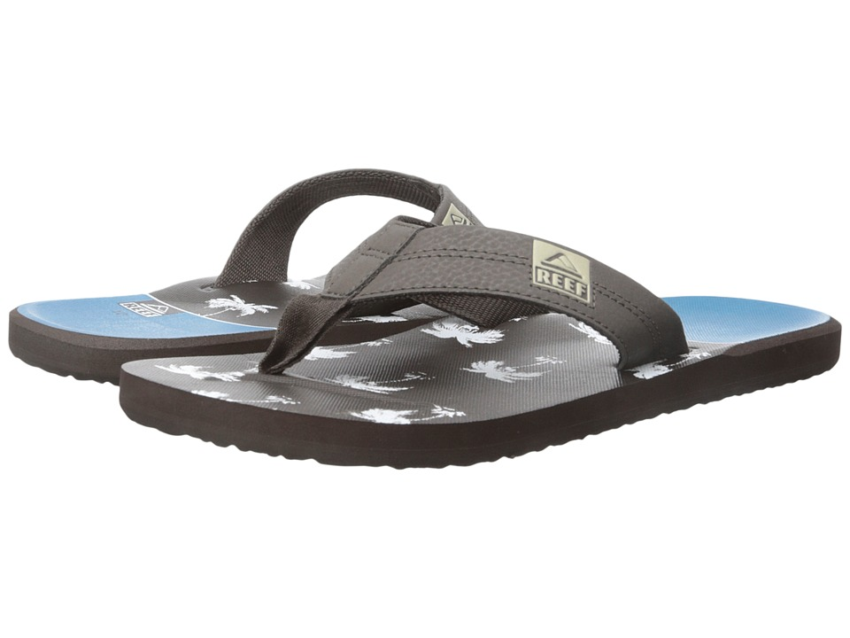 Reef - HT Prints (Brown/Blue Palm) Men's Sandals