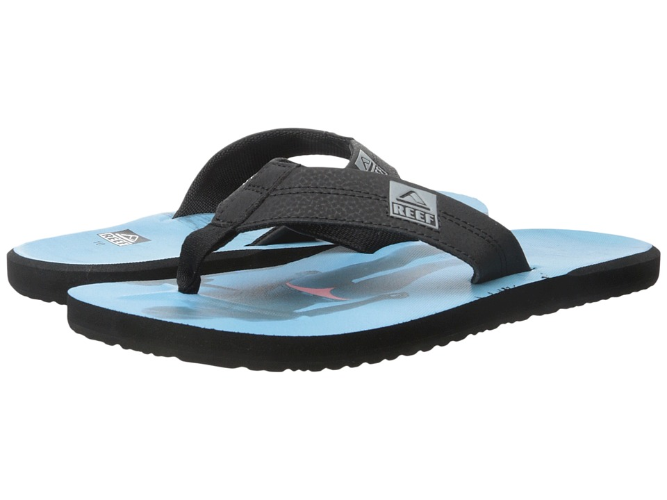 Reef - HT Prints (Black/Blue/Pink) Men's Sandals