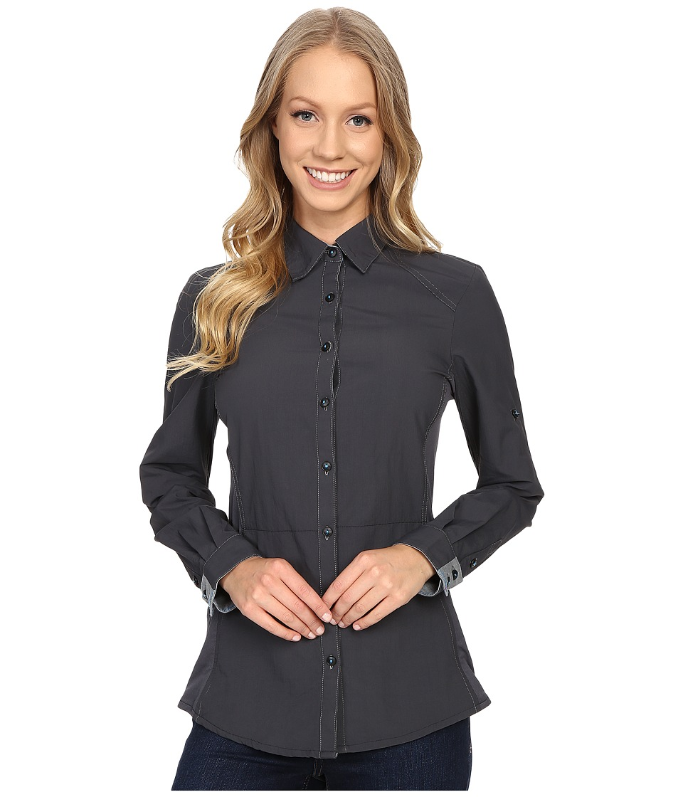 Kuhl - Wunderer L/S Shirt (Carbon/Slate) Women's Long Sleeve Button Up