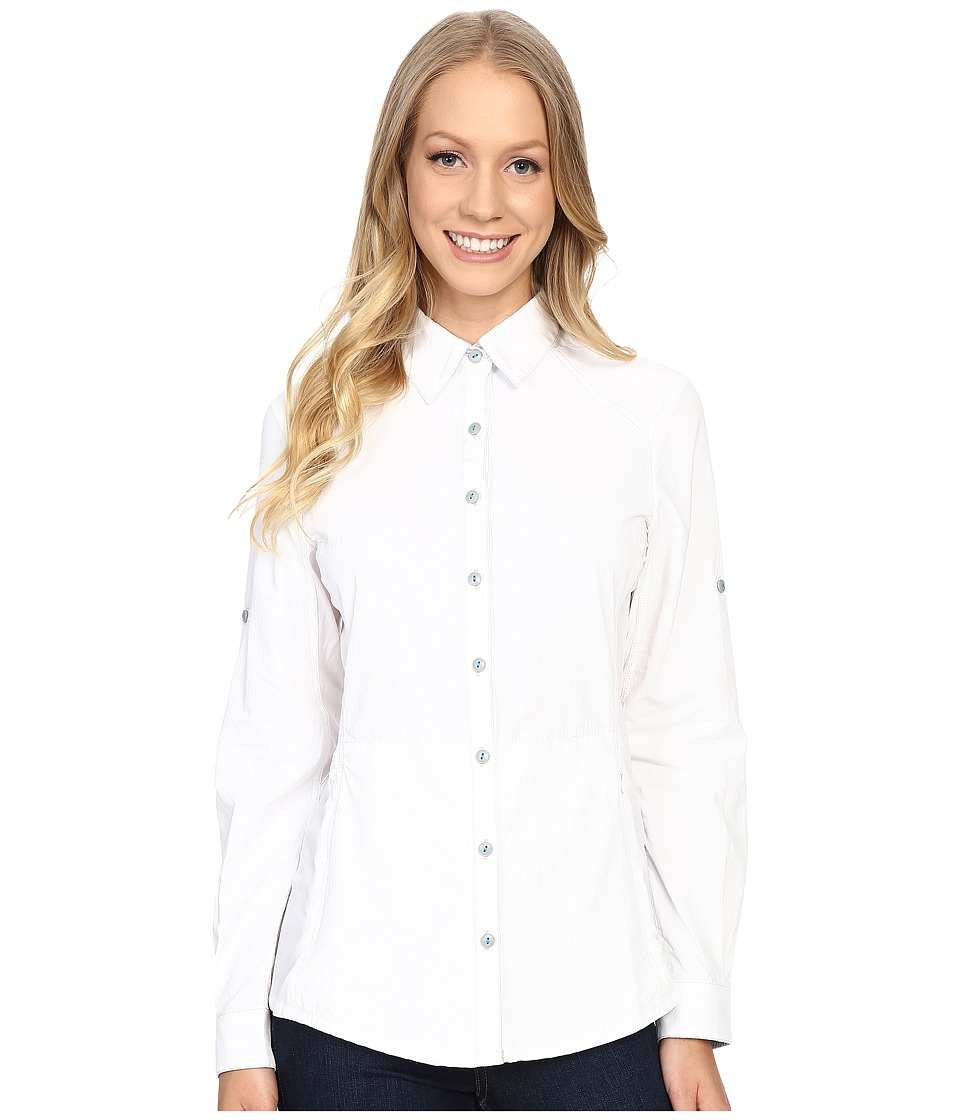 KUHL - Wunderer L/S Shirt (White/Ash) Women's Long Sleeve Button Up