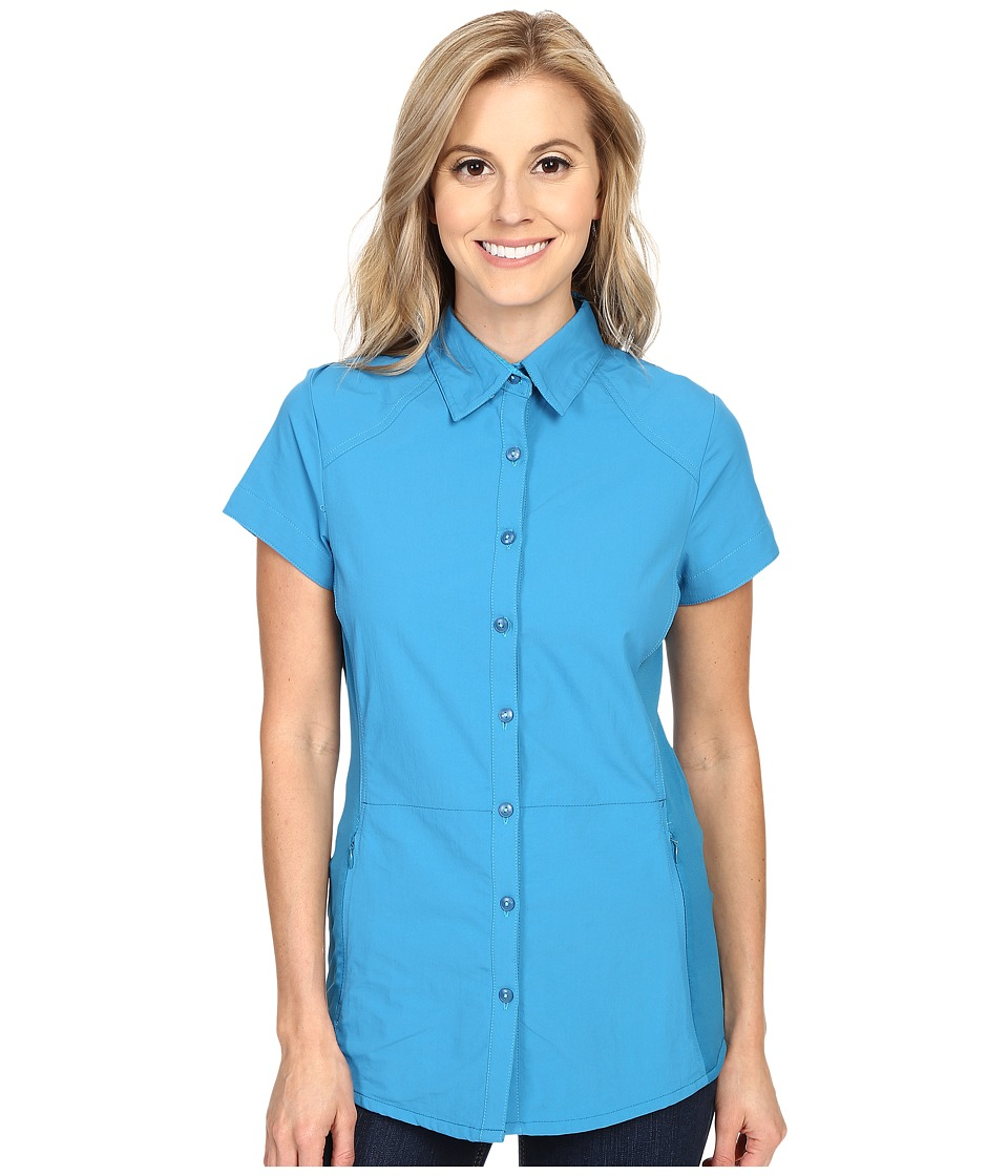 KUHL - Wunderer S/S Shirt (Seaport) Women's Short Sleeve Button Up