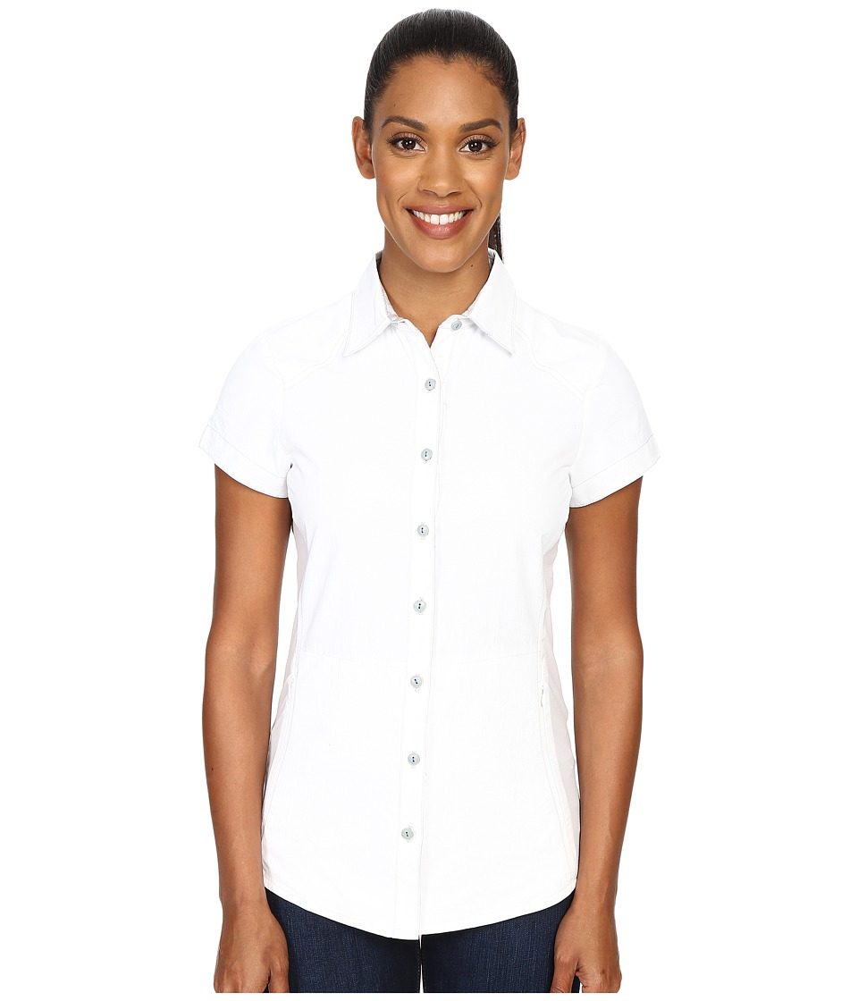Kuhl - Wunderer S/S Shirt (White/Ash) Women's Short Sleeve Button Up