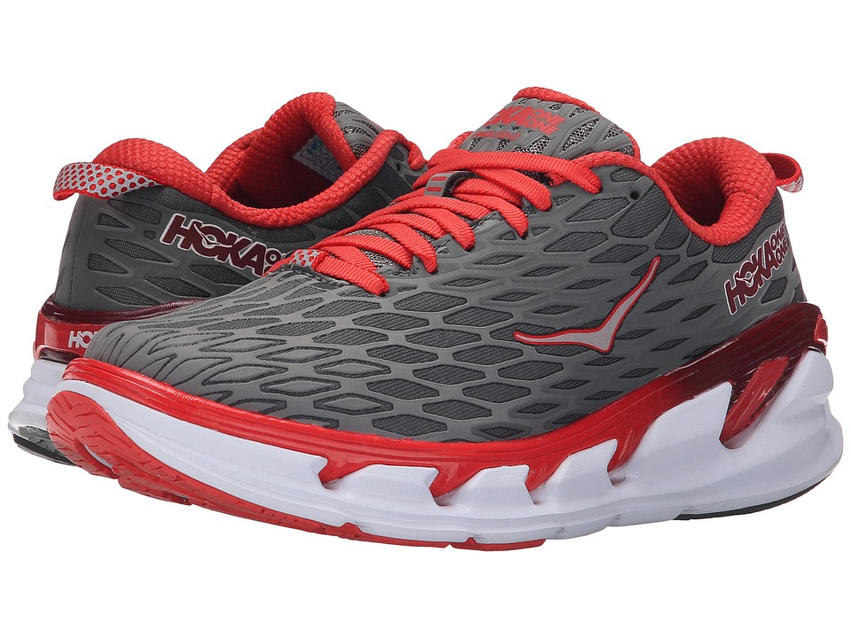Hoka One One Vanquish 2 (Grey/Poppy Red) Women