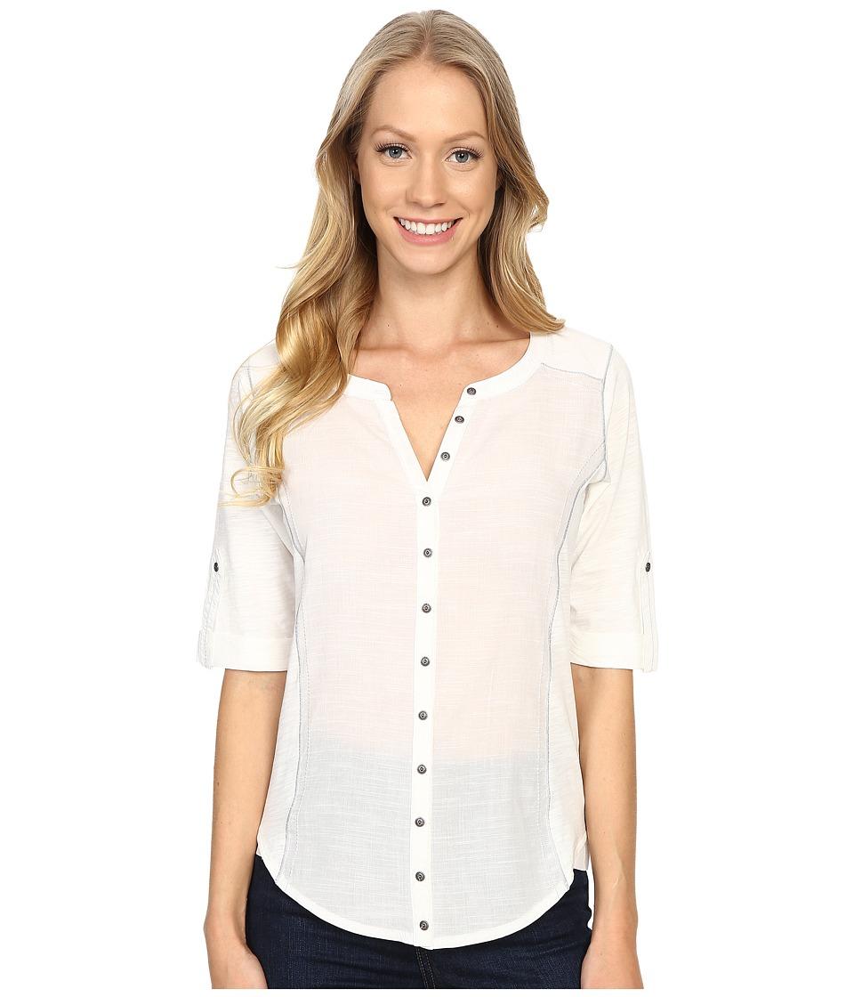 KUHL - Zur 3/4 Sleeve Top (White) Women's Long Sleeve Pullover