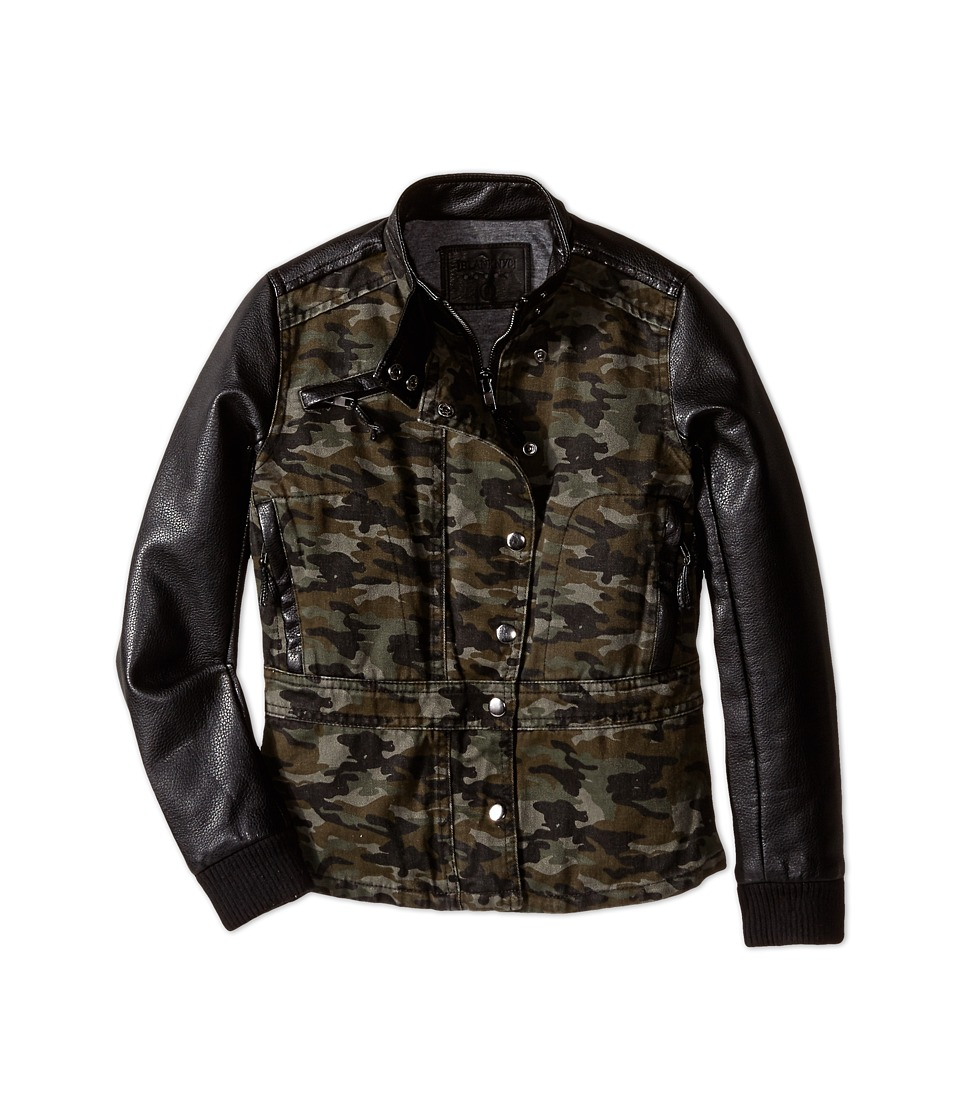 Camo leather jacket