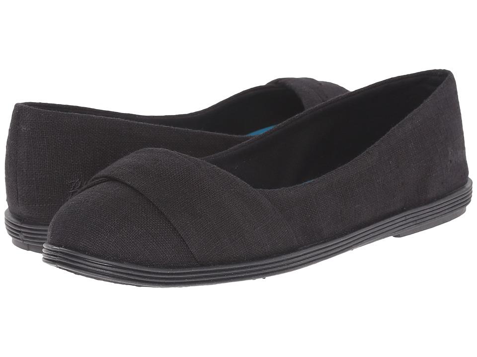 Blowfish - Grale (Solid Black Cozumel Linen) Women's Flat Shoes