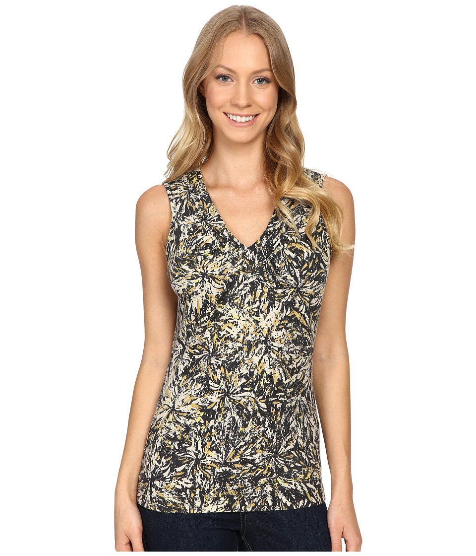 Royal Robbins - Essential Floret Tank Top (Jet Black) Women's Sleeveless