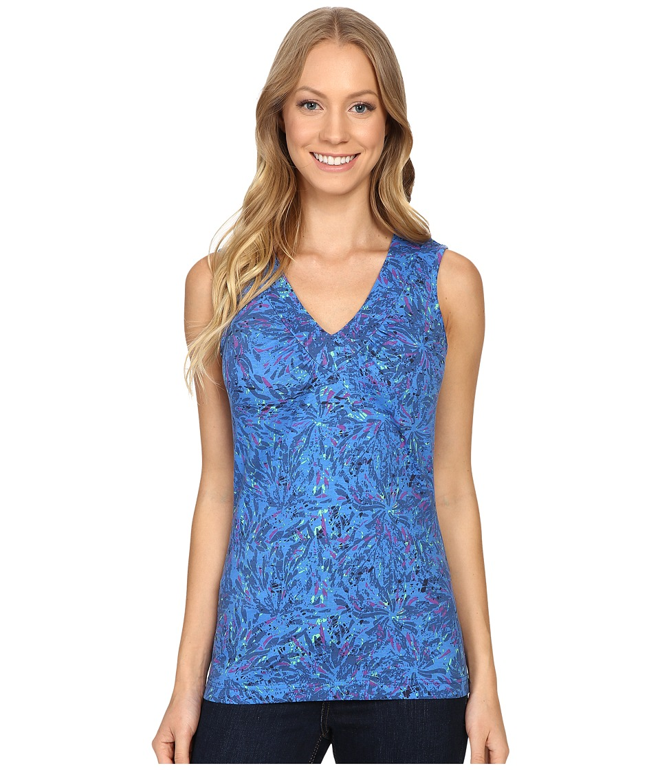 Royal Robbins - Essential Floret Tank Top (Dark Lapis) Women's Sleeveless