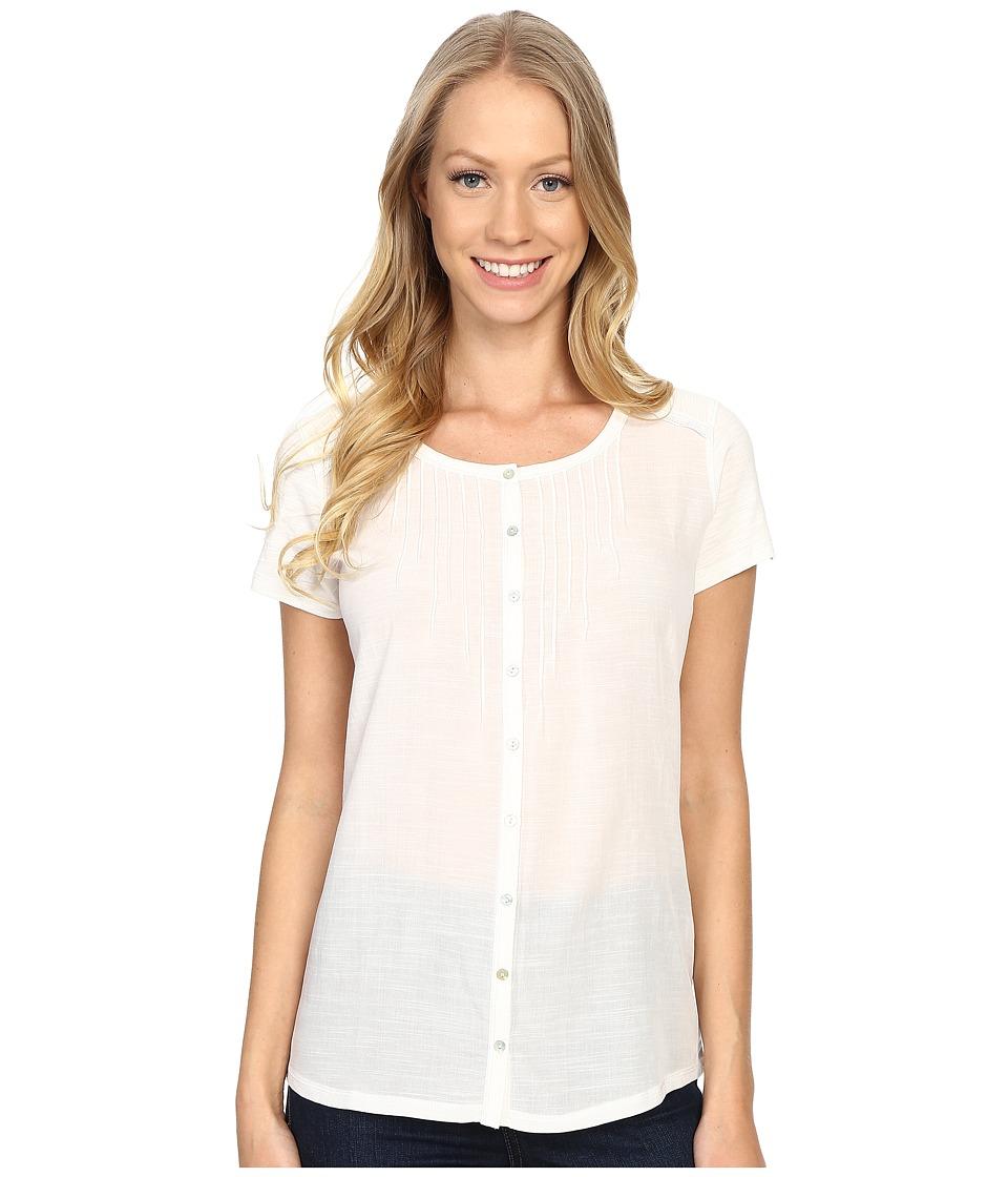 KUHL - Geneva Short Sleeve Shirt (White) Women's Short Sleeve Pullover