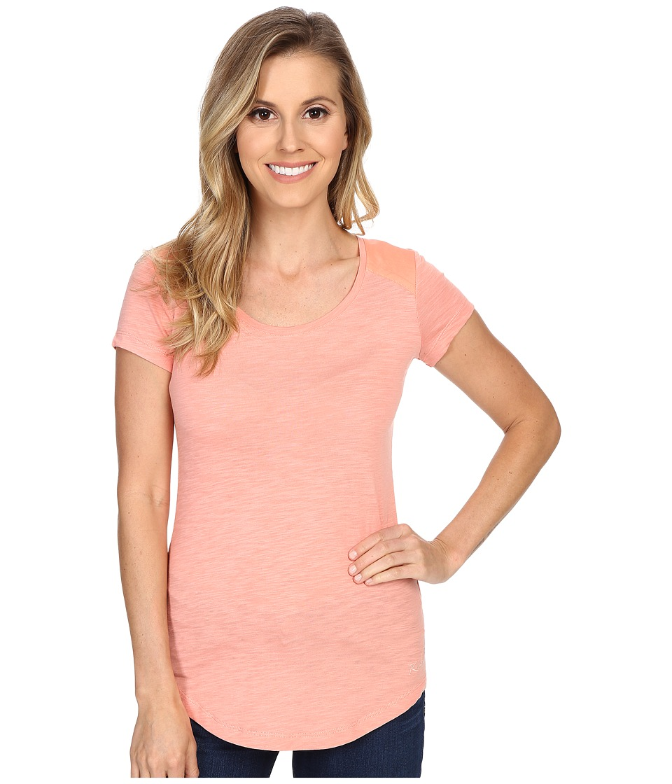 Kuhl - Khloe S/S Top (Peach) Women's Short Sleeve Pullover