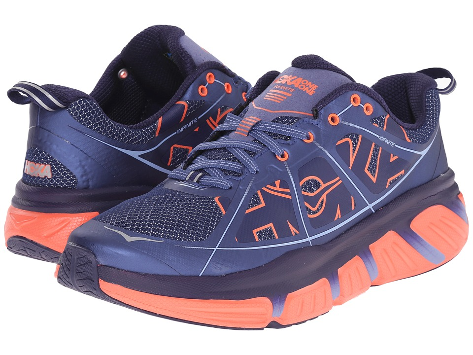 Hoka One One - Infinite (Coastal Fjord/Neon Coral) Women's Running Shoes