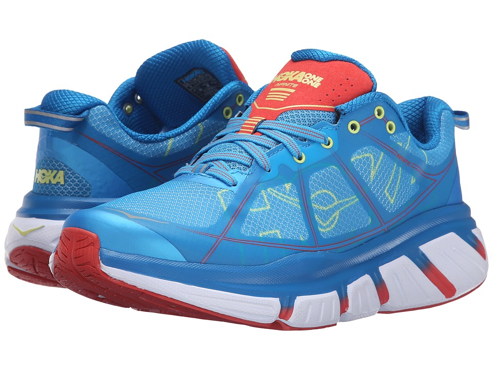 Hoka One One - Infinite (Dresden Blue/Poppy Red) Women's Running Shoes