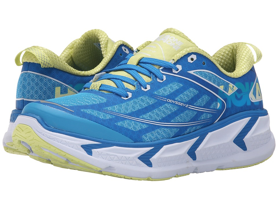 Hoka One One - Odyssey 2 (Dresden Blue/Sunny Lime) Women's Running Shoes