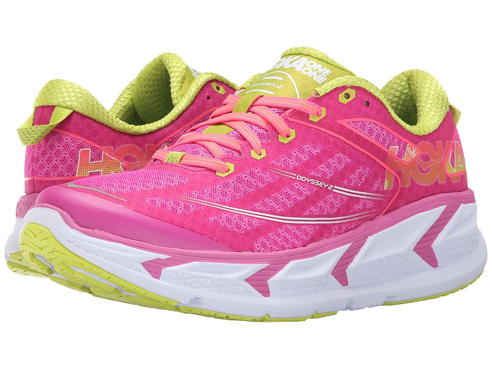 Hoka One One - Odyssey 2 (Fuchsia/Neon Coral) Women's Running Shoes
