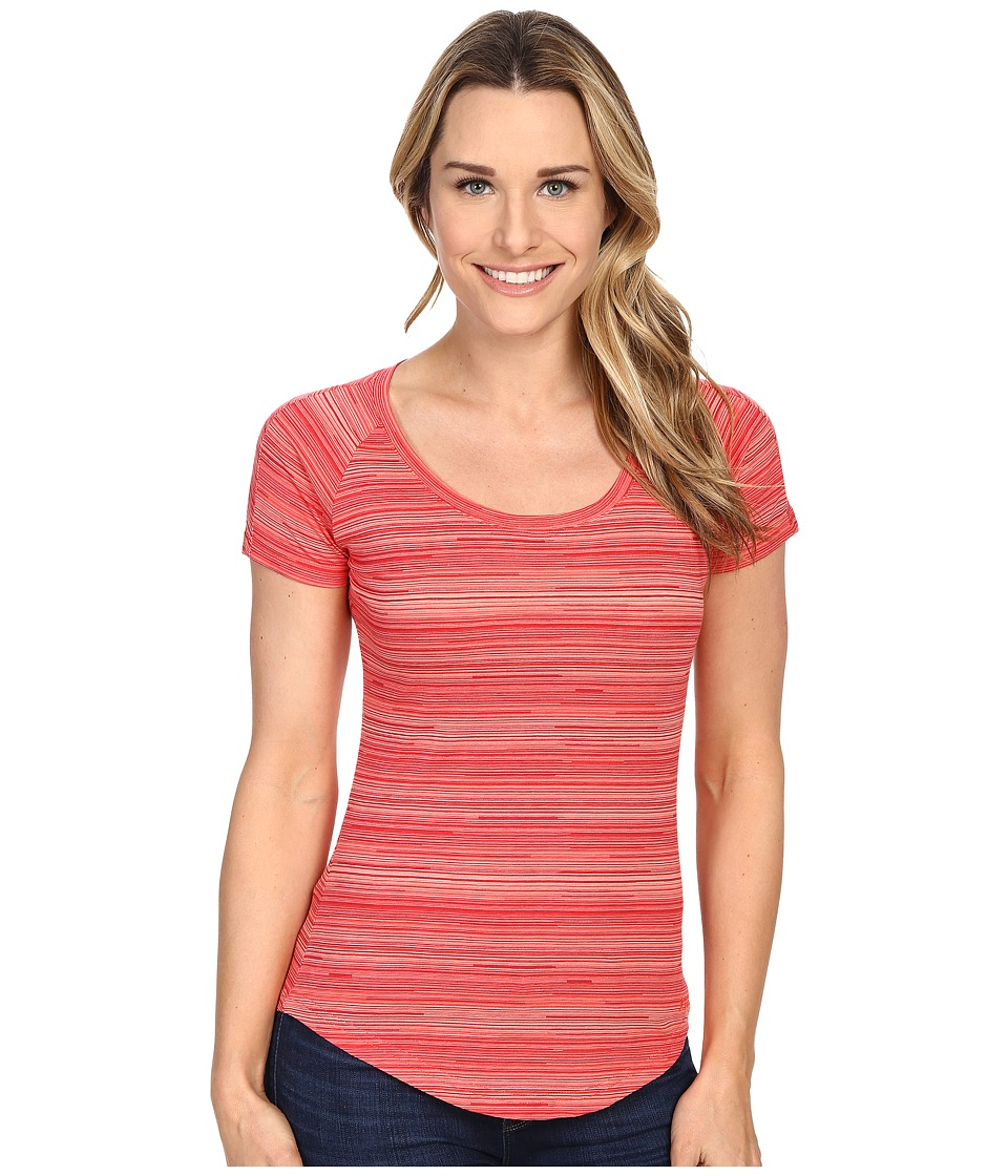 KUHL - Bella Scoop (Poppy Stripe) Women's Short Sleeve Pullover