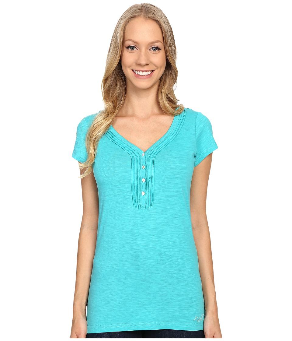 KUHL - Vega Henley (Mountain Jade) Women's Short Sleeve Pullover