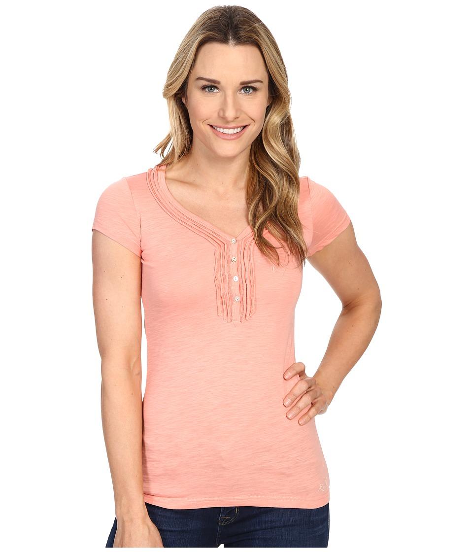 KUHL - Vega Henley (Peach) Women's Short Sleeve Pullover