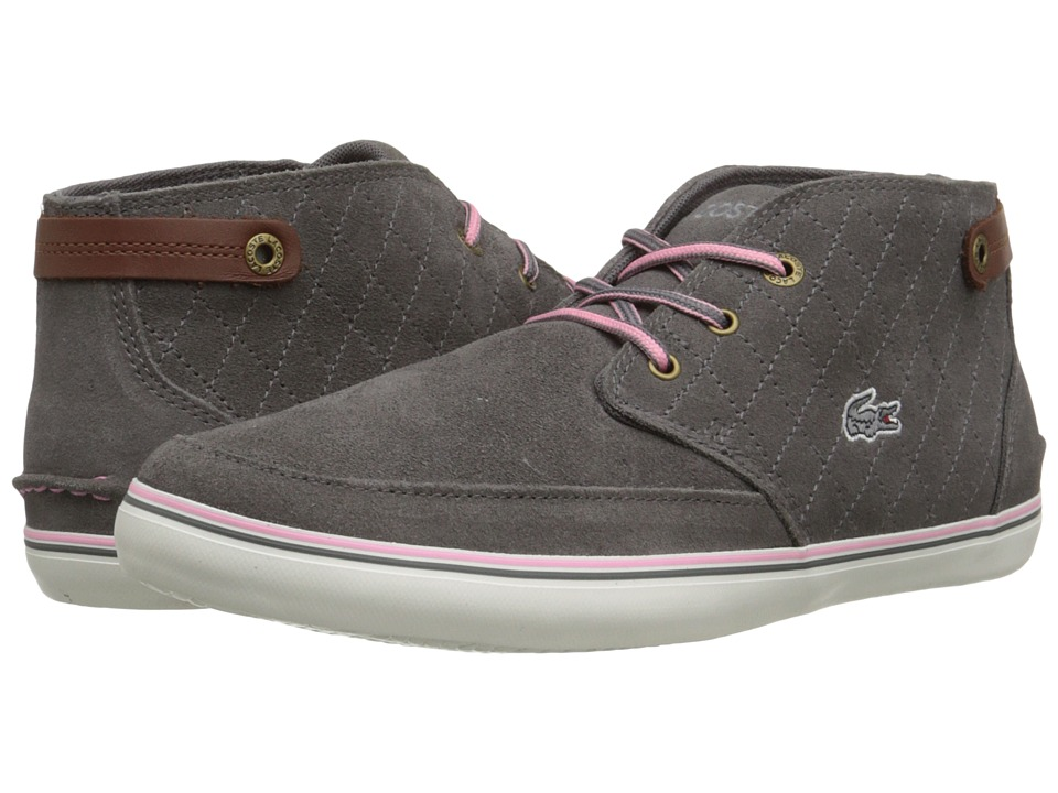 Lacoste - Clavel W6 (Dark Grey) Women's Lace up casual Shoes