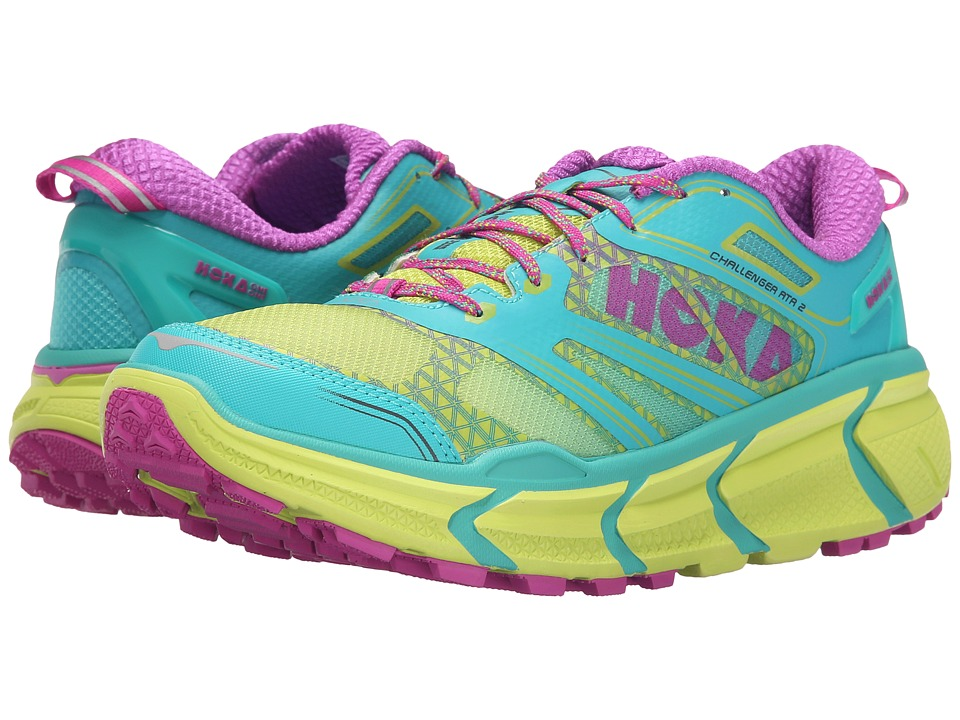 Hoka One One - Challenger ATR 2 (Aqua/Fuchsia) Women's Running Shoes