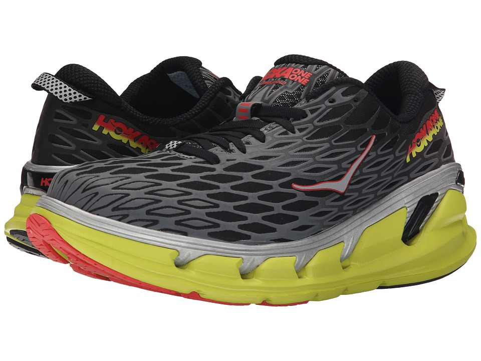 Hoka One One - Vanquish 2 (Black/Acid) Men's Running Shoes
