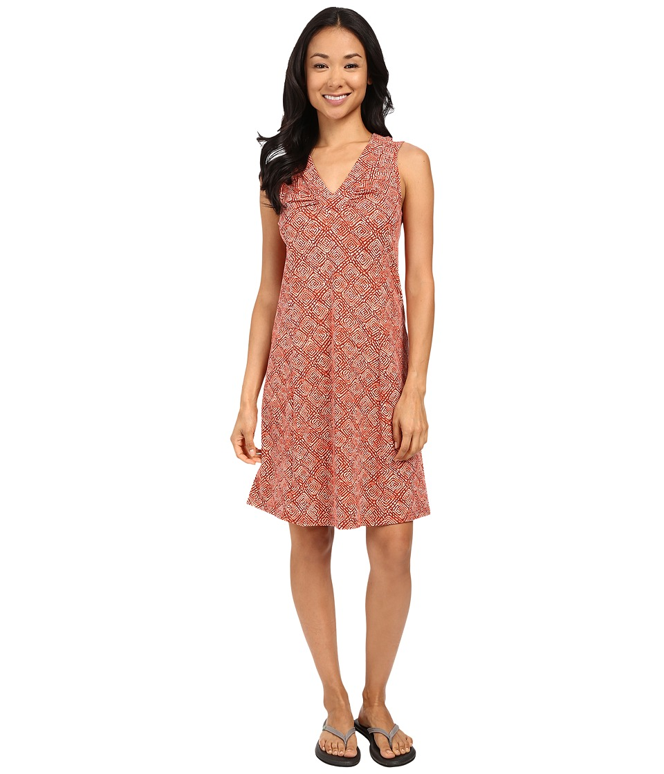 Royal Robbins - Essential Tie-Diamond Dress (Pimento) Women's Dress