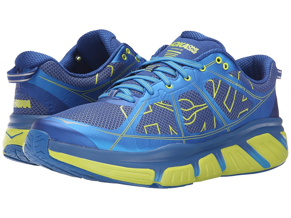 Hoka One One - Infinite (True Blue/Acid) Men's Running Shoes