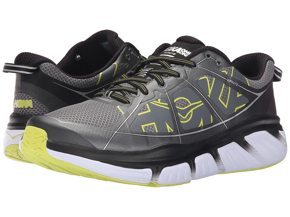 Hoka One One - Infinite (Grey/Citrus) Men's Running Shoes