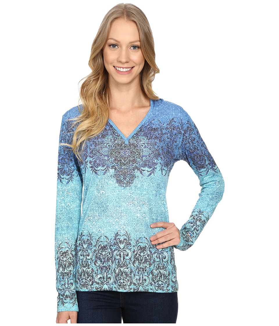 Kuhl - Basel Hoodie (Swiss Blue) Women's Long Sleeve Pullover