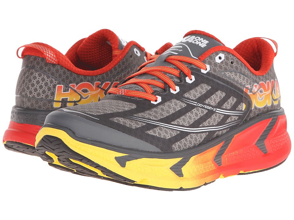 Hoka One One - Odyssey 2 (Grey/Orange Flash) Men's Running Shoes