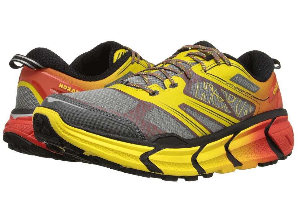 Hoka One One - Challenger ATR 2 (Grey/Empire Yellow) Men's Running Shoes