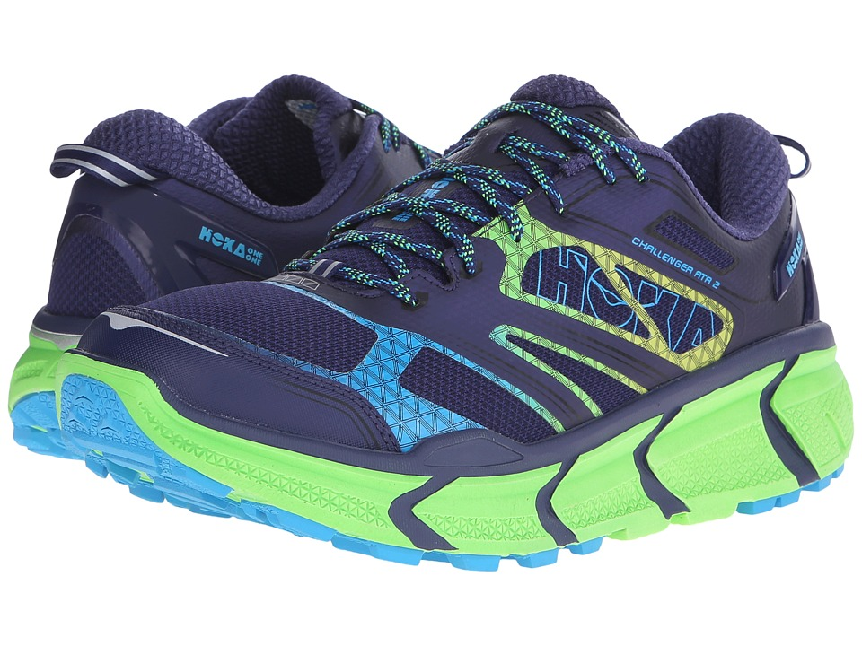 Hoka One One - Challenger ATR 2 (Astral Aura/Neon Green) Men's Running Shoes