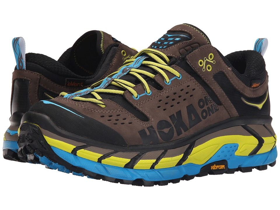Hoka One One - Tor Ultra Low WP (Grey/Cyan) Men's Running Shoes