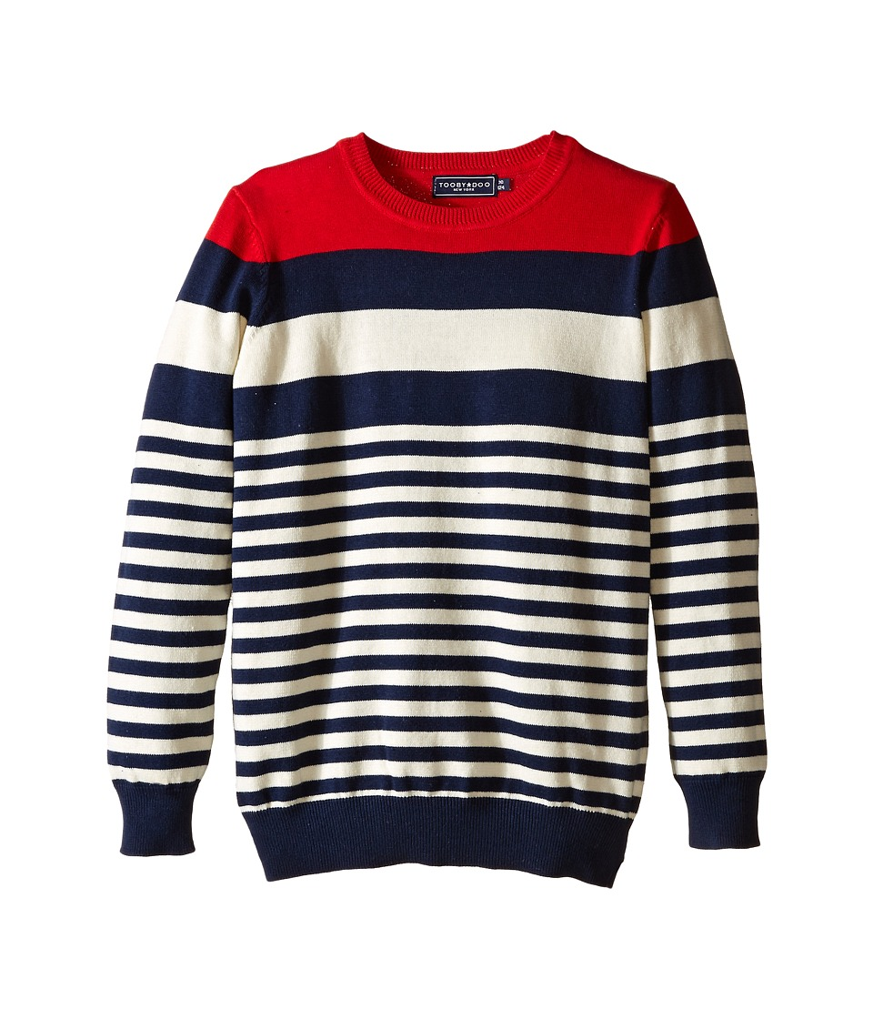 Toobydoo - Albert Stripes (Toddler/Little Kids/Big Kids) (Red/Navy/White) Boy's Sweater