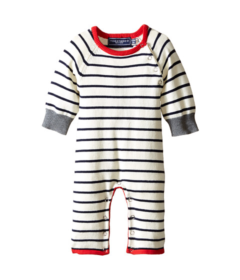 Toobydoo - Captain Stripe (Infant) (Navy/White/Red) Boy's Sweater