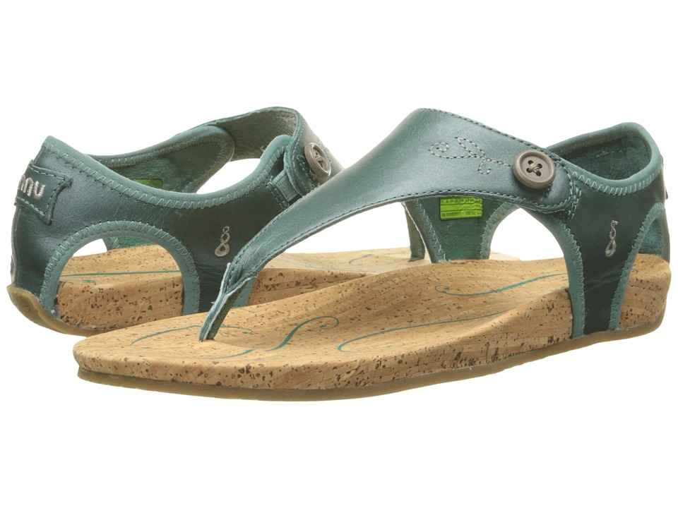 Ahnu - Serena (Dusty Teal) Women's Toe Open Shoes