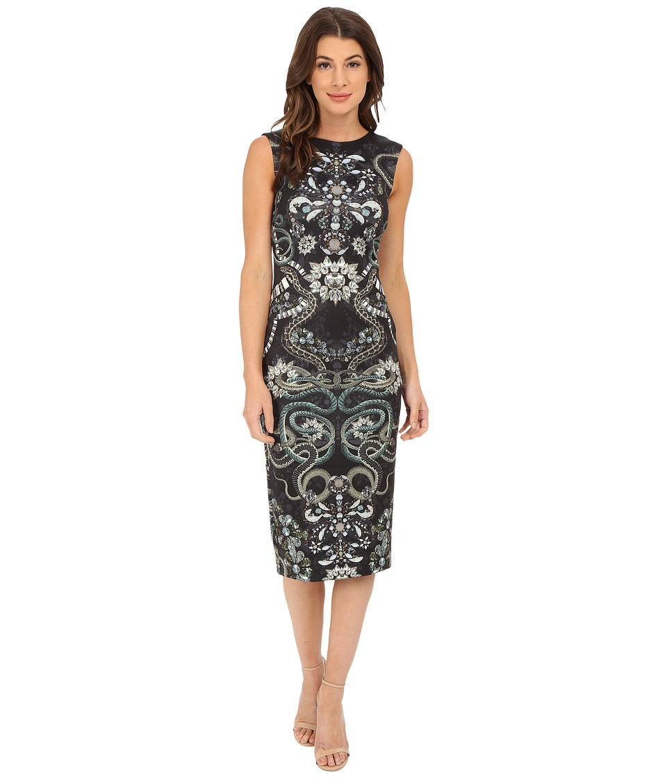Ted Baker - Bellia Gem Print Asymmetric Dress (Black) Women's Dress