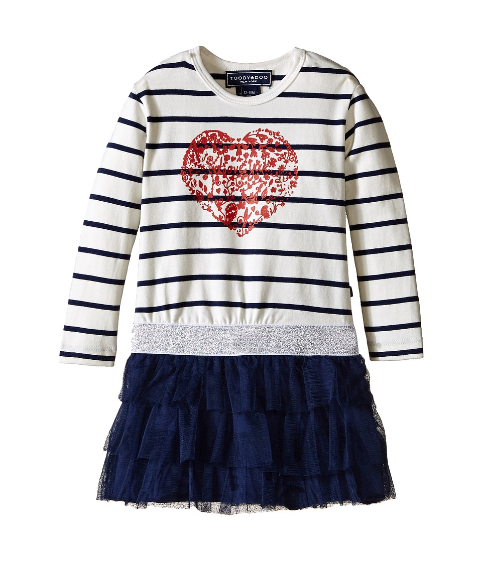 Toobydoo - Liliana Party Dress (Infant/Toddler/Little Kids) (White/Navy/Red) Girl's Dress