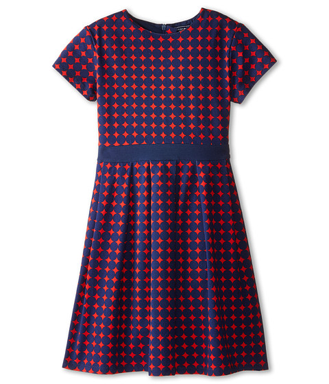 Toobydoo - Naya Party Dress (Toddler/Little Kids/Big Kids) (Red/Navy) Girl's Dress