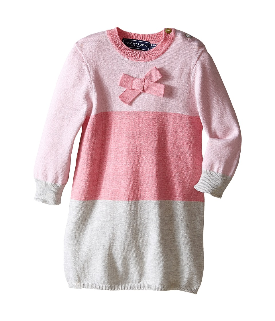 Toobydoo - Pretty in Pink Dress (Infant/Toddler/Little Kids) (Pink/Grey) Girl