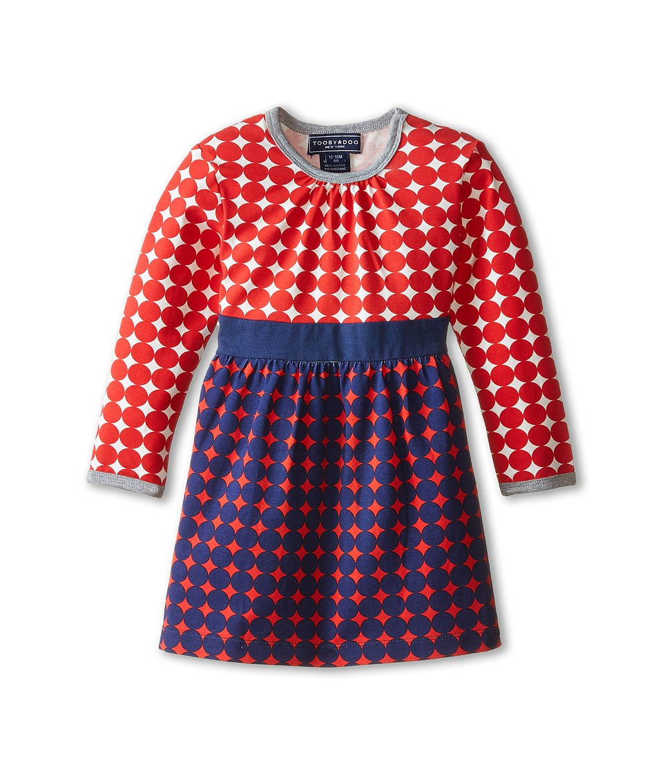 Toobydoo - Michelle Party Dress (Infant/Toddler/Little Kids) (Red/Navy) Girl
