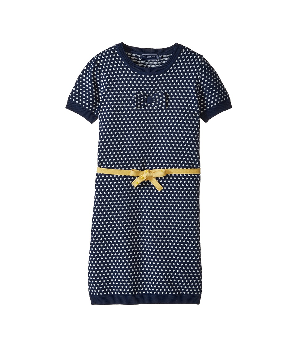 Toobydoo - Layla Mini Dot Dress (Toddler/Little Kids/Big Kids) (Navy/Yellow) Girl
