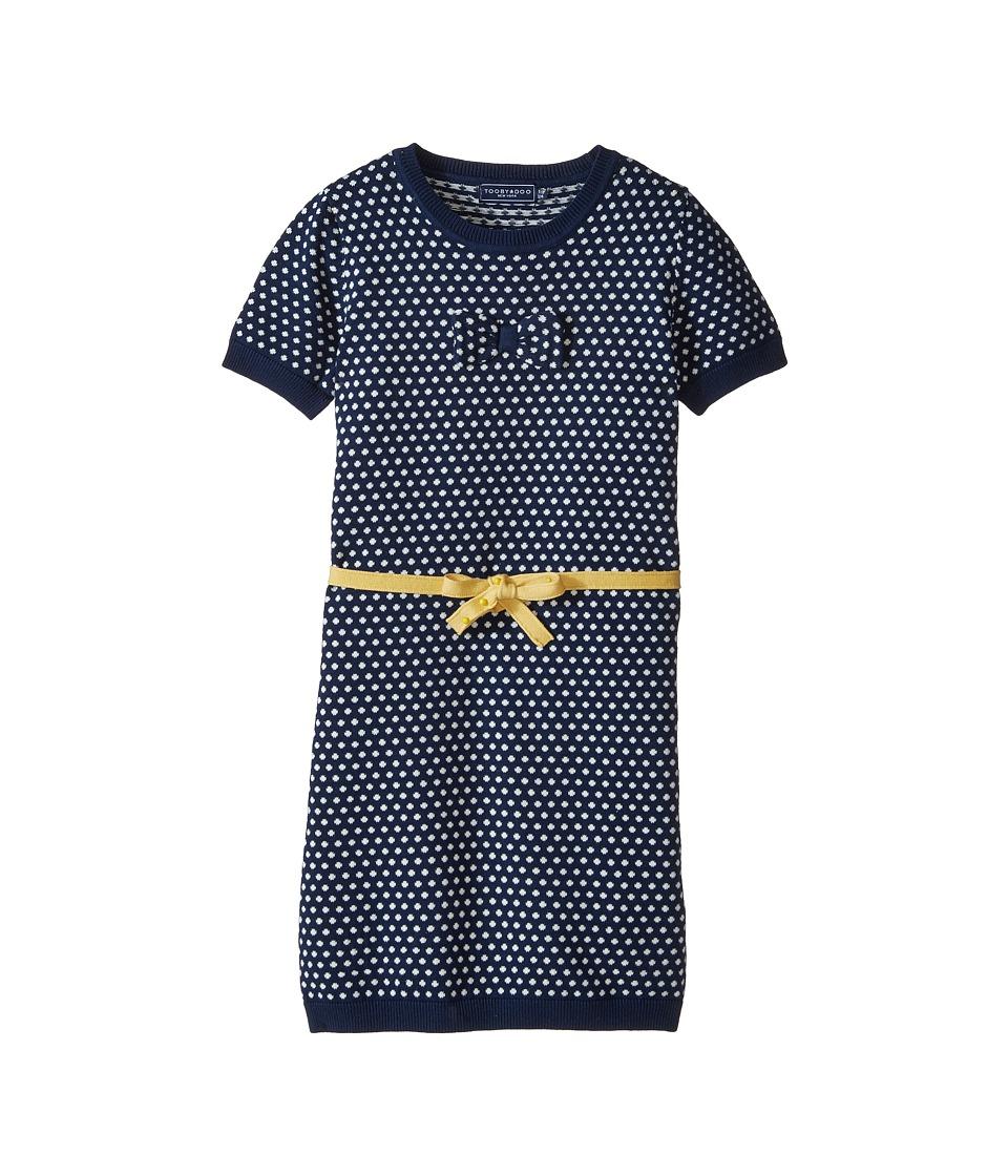 Toobydoo - Layla Mini Dot Dress (Toddler/Little Kids/Big Kids) (Navy/Yellow) Girl's Dress