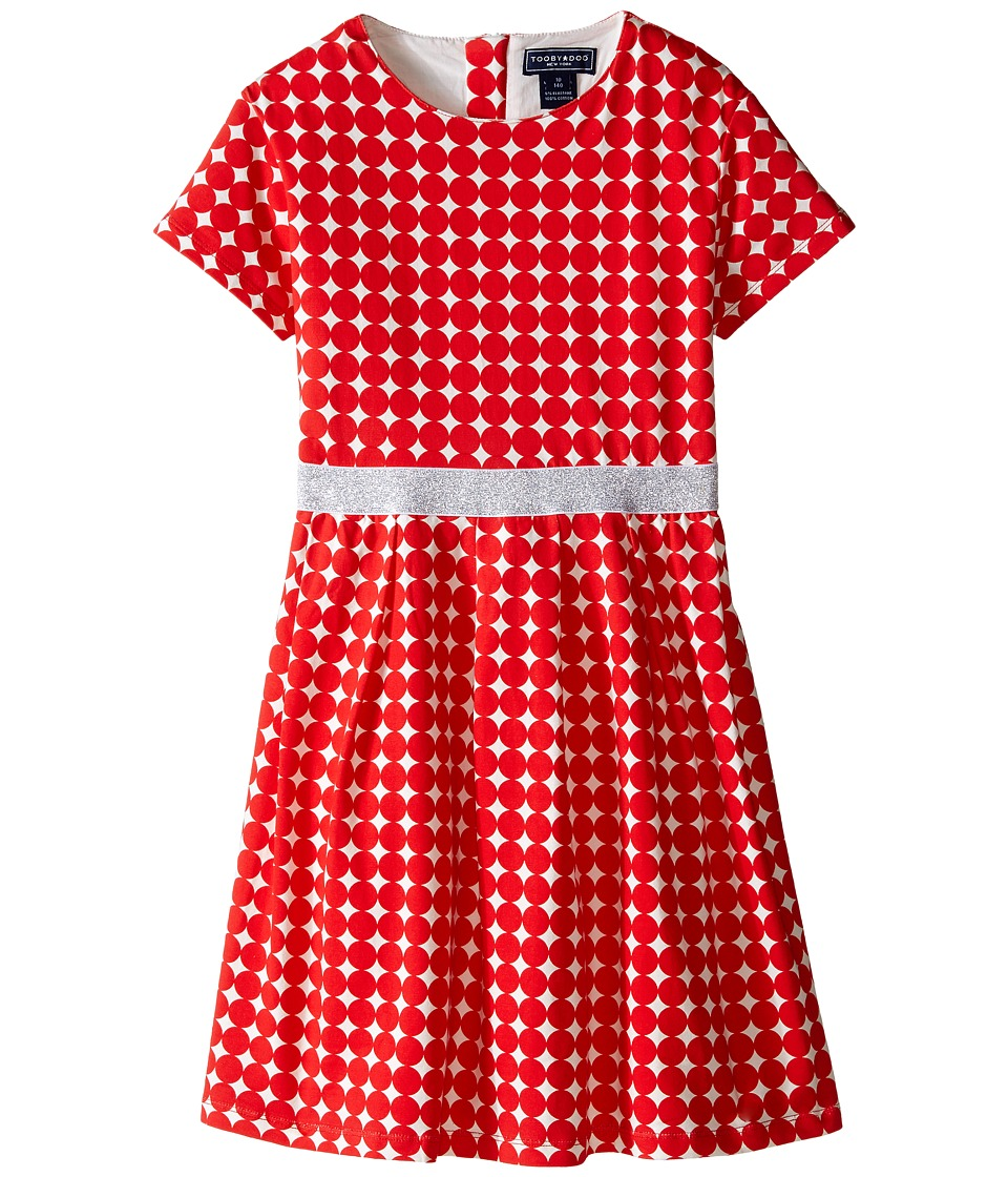 Toobydoo - Isa Party Dress (Toddler/Little Kids/Big Kids) (Red/White) Girl's Dress